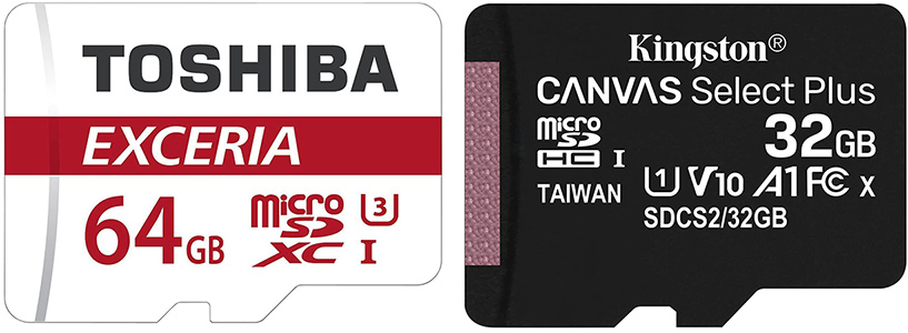 Requirements (3): microSD cards